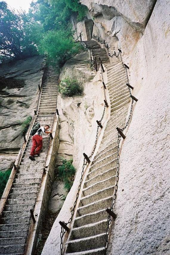 Hua Shan-escaleras verticales