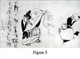 Sengai-Gibon-Nan-Chuan-Cutting-Cat-in-Two-1750-1837-Japan-Hanging-scroll-ink-on