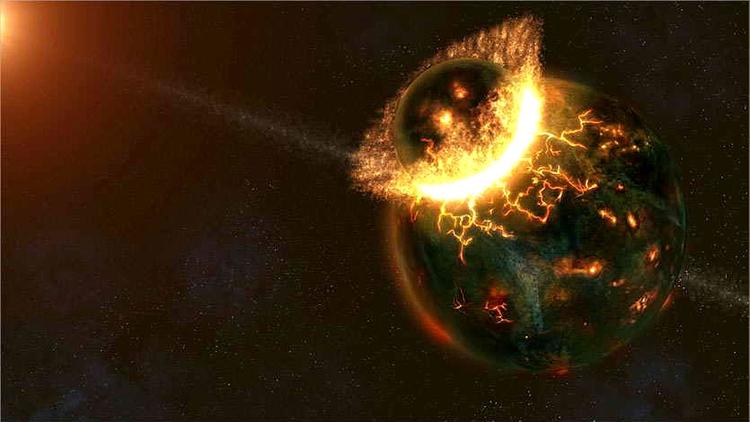 colision lunar