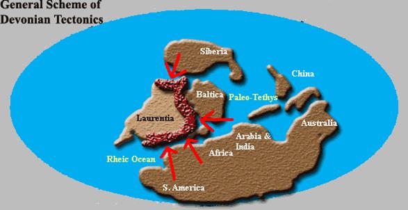 Devonico tectonica