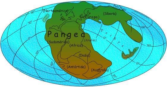 Pangea en Triasico