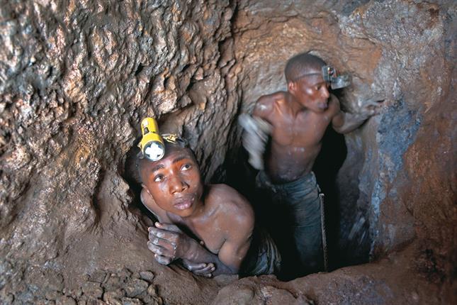 mineros africanos