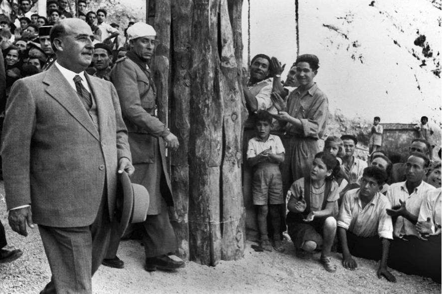 Campesinos durante los años 50