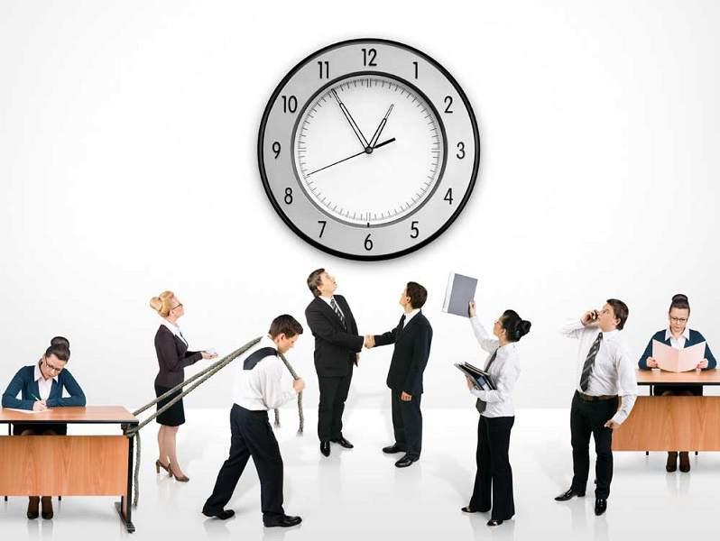 reloj y trabajo